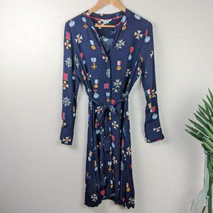Boden Dresses - Boden Jessica Medal Print Button Down Dress Blue 8